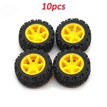 10pcs 2*40mm Plastic Rubber Tire Aperture 2mm Diameter 40mm Wheel for DIY Assembly Toys Handmade RC 4WD Car Wheels Rim