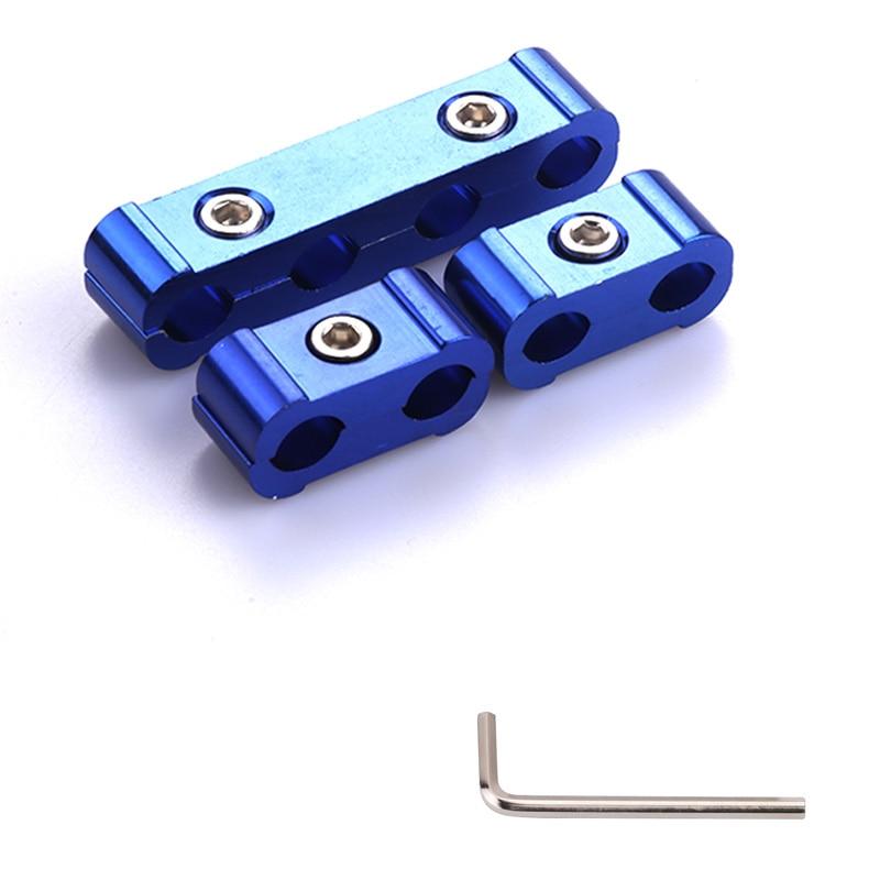 Автомобильные свечи зажигания Клещи для электропровода сепаратор линия кабель зажигания Клип Авто украшения 3 шт. для 8 мм/9 мм/10 мм автомобильные аксессуары - Цвет: blue with logo