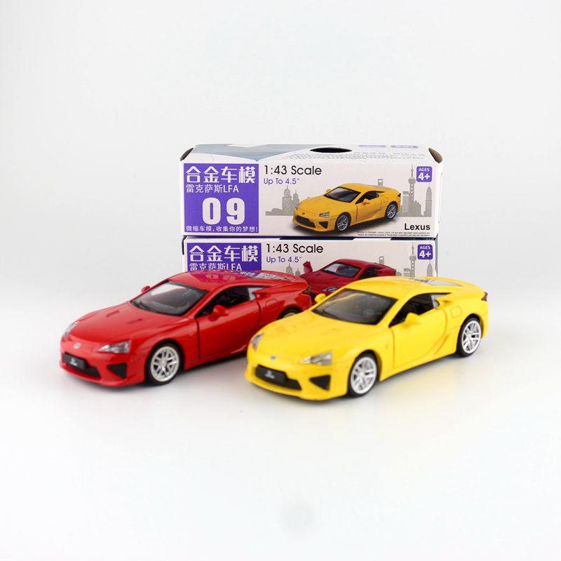 CAIPO 1:43 Lexus LFA Alloy Pull-back Vehicle Model Diecast Metal Model Car For Boy Toy Collection Friend Children Gift
