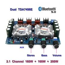 TDA7498E 2*160ワット + 220ワットbluetooth 5.0電源サブウーファーアンプ基板2.1チャンネルクラスdホームシアターオーディオステレオイコライザーアンプ