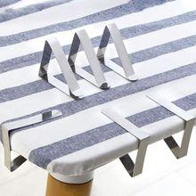 6 Упаковка, нержавеющая сталь Зажим для скатерти регулируемый стол фиксированный зажим для скатерти Домашний помощник