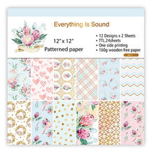 12inch 24sheets Everything Is Sound Scrapbooking Origami Background Paper Pad DIY Card Gift Wrapping Home Deco Paper Handmade