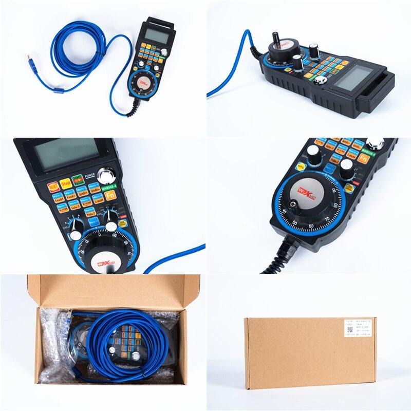 Controle eletrônico da roda de mão LHB04B 4/6 do sistema mach3 do controle com fio de usb do punho cnc para a trituração do cnc - 3