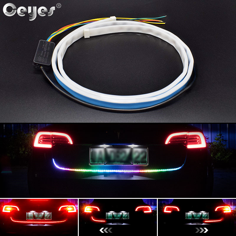 Ceyes 120cm Car Accessories DRL Running Turn Signal Lamp <font><b>Tail</b></font> Additional Stop <font><b>Light</b></font> Floating LED Strip <font><b>Light</b></font> For Universal Autos image