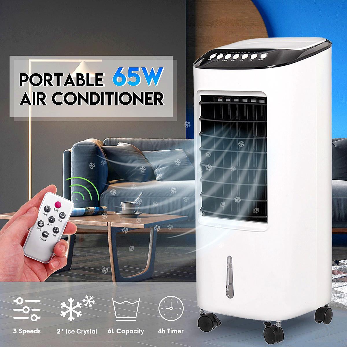 Home Mini Air Conditioner Portable Air Conditioner Conditioning Cooling Fan Humidifier Remote Control Timer Energy Saving Cooler