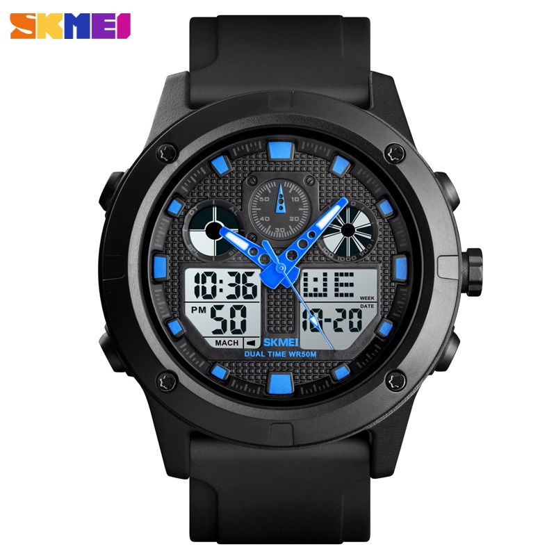 Digital Men's Watch Luxury Brand <font><b>SKMEI</b></font> Men Watches Chronograph Alarm Sport Wristwatch Waterproof Mens Bracelet Clock Male image