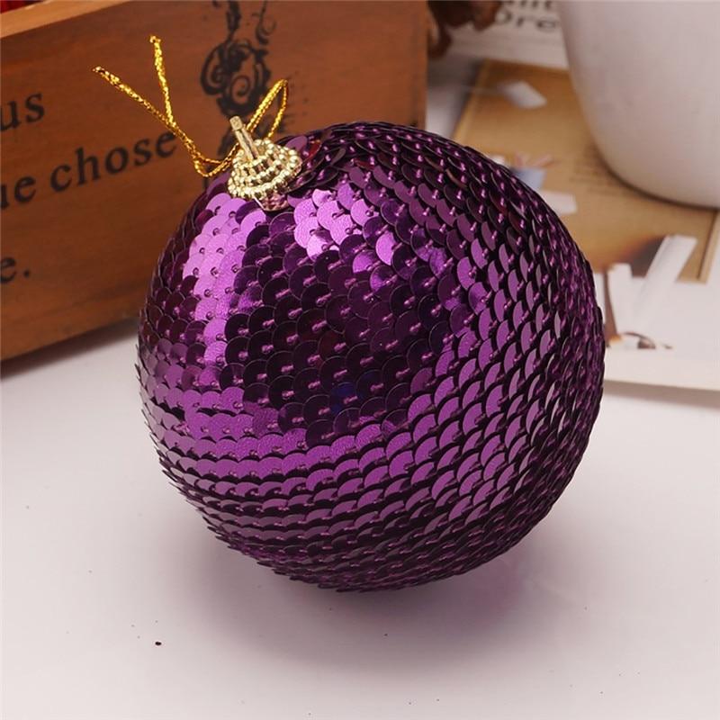 Christmas Rhinestone Glitter Baubles Ball Xmas Tree Ornament Decoration 8CM kerstballen bombki choinkowe #3O11 (7)