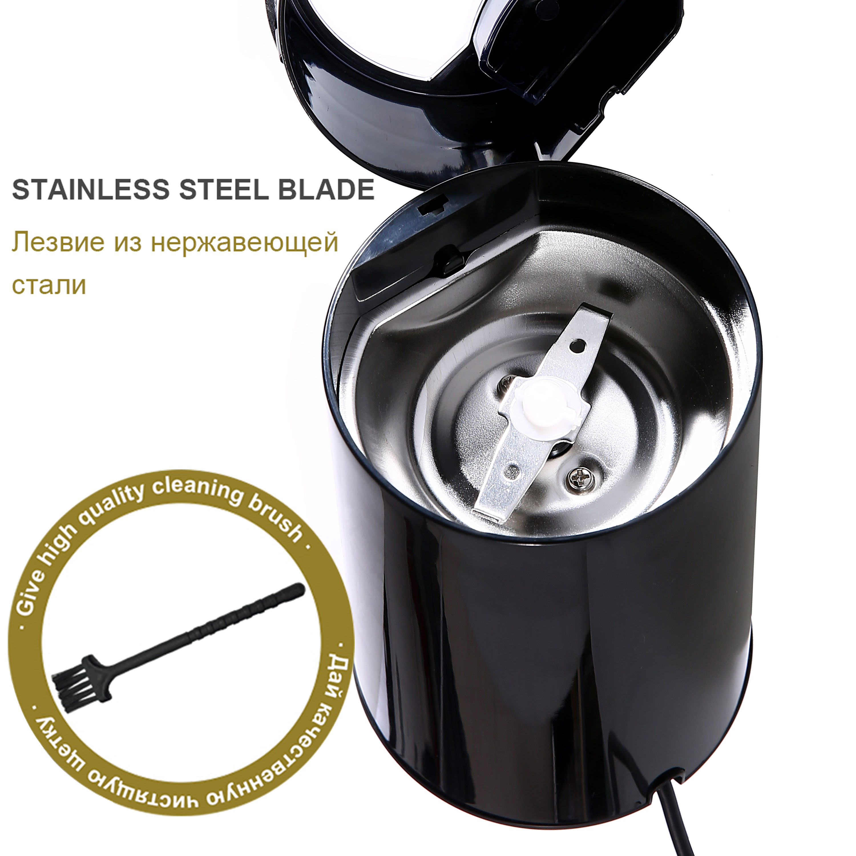 Мини-электрическая кофемолка, мельница для зерен, травяные орехи, нержавеющая сталь, 220 В, Sonifer