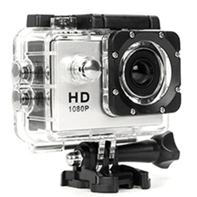 480P Motorcycle Dash Sports Action Video Camera Motorcycle Dvr Full Hd 30M Waterproof,Silver