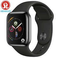 Montre intelligente Bluetooth série 4 montre intelligente pour Apple iOS iPhone Xiaomi téléphone intelligent Android pas Apple Watch (bouton rouge)