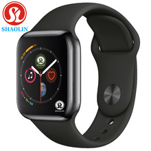 Bluetooth Smart Watch Series 4 SmartWatch Case for Apple iOS iPhone Xiaomi Android Smart Phone NOT Apple Watch (Red Button)
