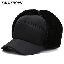 Fur Hats Bomber-Hat Caps Russian-Hat Winter Ushanka Men for Stocking Stuffers Baseball-Cap