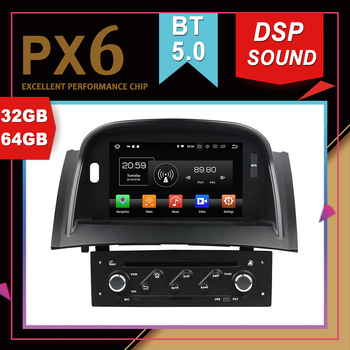 Rockchip PX6 Processor Android 9.0 Car Multimedia GPS For RENAULT Megane II 2004-09 DSP Sound Navigation Tape Recorder Radio image