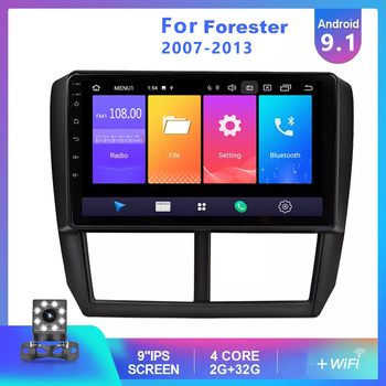 9 Inch 2din Android 9.1 Car Radio For 2007 2008 2009 2010 2011 2012 2013 Subaru Forester GPS Audio Head Unit Multimedia Player image
