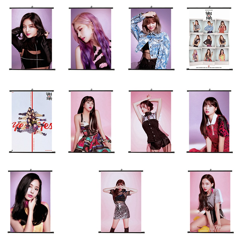 New TWICE Sixth Mini Album YES Or YES Poster Clear Image Home Decoration Good Quality Prints Scroll Painting Stationery Set