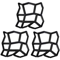 3 Pack Onregelmatige DIY Bestrating Mal Lopen Maker Path Maker Brick Mold Beton Vorm Pathmate Stepping Stone Mallen voor Tuin  cour-in Bestratingsmatrijzen van Huis & Tuin op