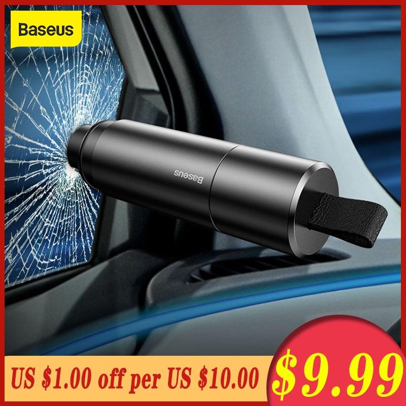 Baseus Car Safety Hammer Mini Safety Hammer Emergency Glass Breaker Window Seat Belt Cutter Life-Saving Escape Hammer Blade Tool