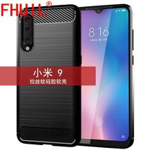 FHUIL Texture Soft TPU Bumper Shockproof Case For xiaomi mi 9 case Cover Protective Fundas Luxury  Matte Frosted Silicon