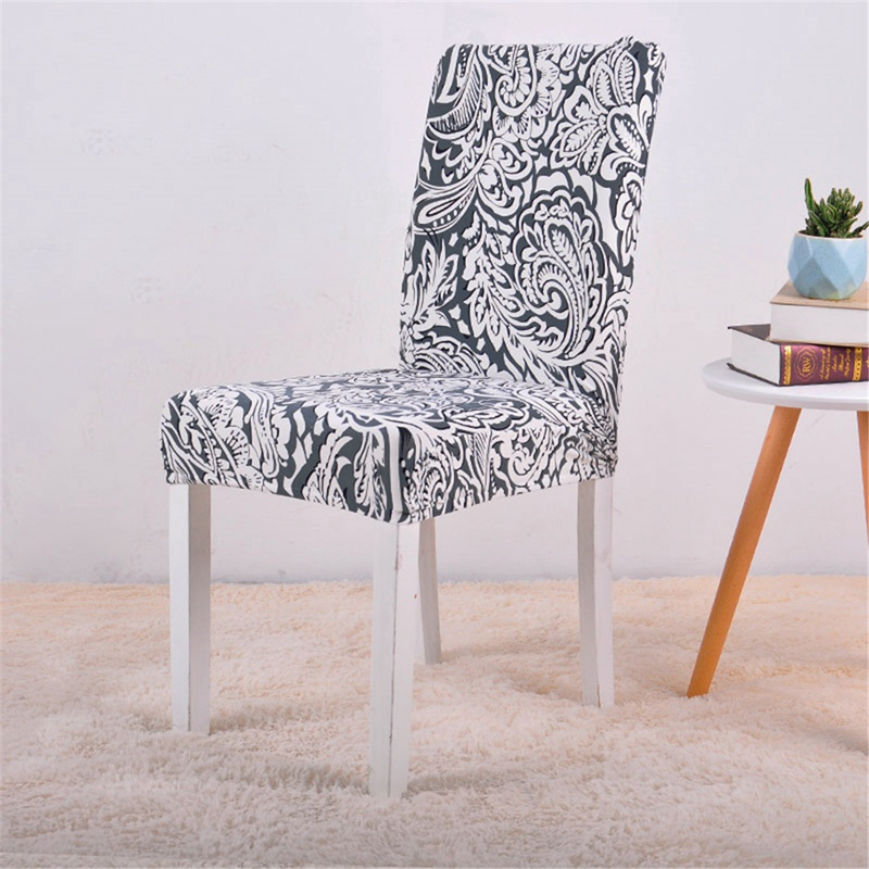 Black flowers chair cover1