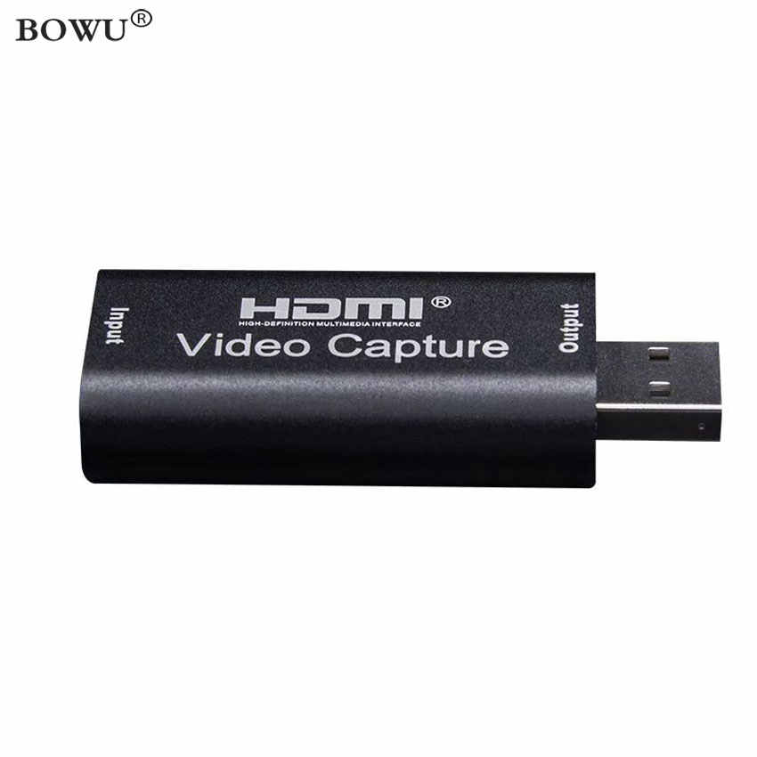Cartão de captura de vídeo hdmi mini captura de vídeo usb2.0 hdmi grabber caixa de gravação de vídeo para xbox ps4 game filmadora streaming ao vivo