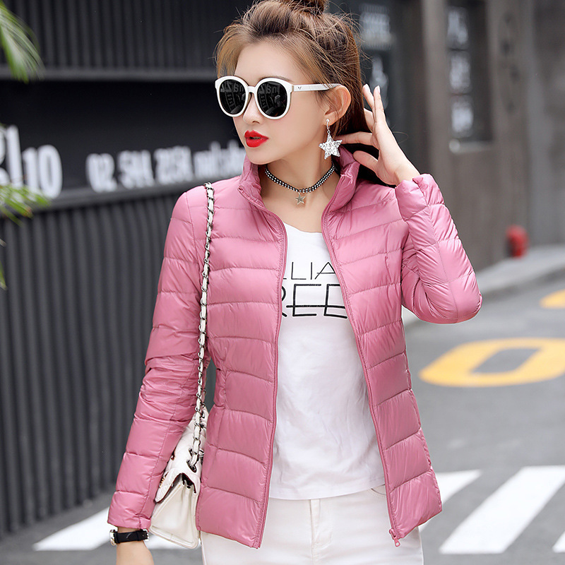 Women Winter Coat 2019 Ultra Light White Duck Down Jacket Slim Women Winter Puffer Jacket Portable Windproof Down Coat