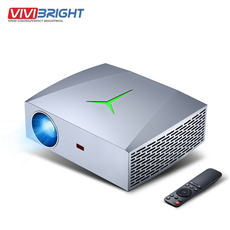 VIVIBright F40UP Full HD 1080P Projector 3D 4K Real HD 2+16GB Android 6.0 WIFI bluetooth Movie video Projector TV Stick PS4 image