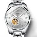 GUANQIN GJ16128 Zwitserland wolfraam staal tourbillon automatische mechanische horloge waterdicht lichtgevende mannen relogio masculino