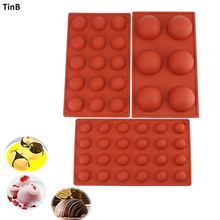 3pcs Hemispheres Shape Silicone Mold Set Form For Cakes Sweet Candy Chocolate Molds Mousse Cake DIY Baking Mould Ice Cube Tray 3pcs robot building block silicone ice cube tray molds
