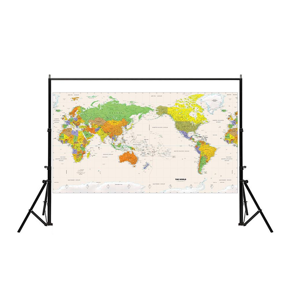 Physical Map Of The World Without Flag 150x225cm Non-woven Detailed Map Of Major Cities In Each Country For Travel And Tour