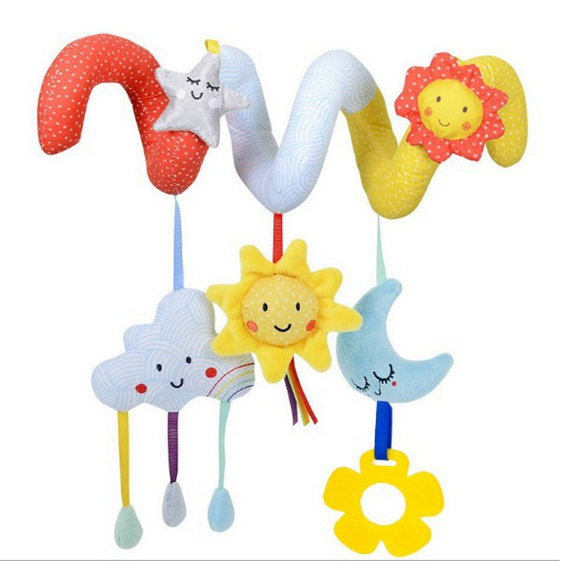 Cute Newborn Baby Infant Animal Soft Rattles Teether Hanging Bell Plush Bebe Toys