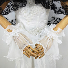 Bridal Wedding Gloves New Style Clothing Decorative Fake Sleeve Pressure Zou Yarn Lace Wrist through Bell S104