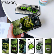 Marvel Comic Superhero Hulk Painted Silicone Case for iPhone 5 5S 6 6S Plus 7 8 11 Pro X XS Max XR