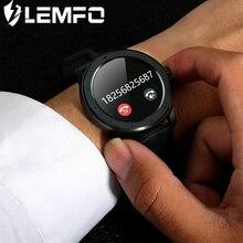 LEMFO akıllı saat erkekler kadınlar tam dokunmatik ekran özel nabız monitörü mesaj hatırlatma sağlık spor izci Smartwatch T6