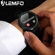 LEMFO reloj inteligente T6 completamente táctil, reloj inteligente deportivo con control del ritmo cardíaco, mensajes y recordatorios