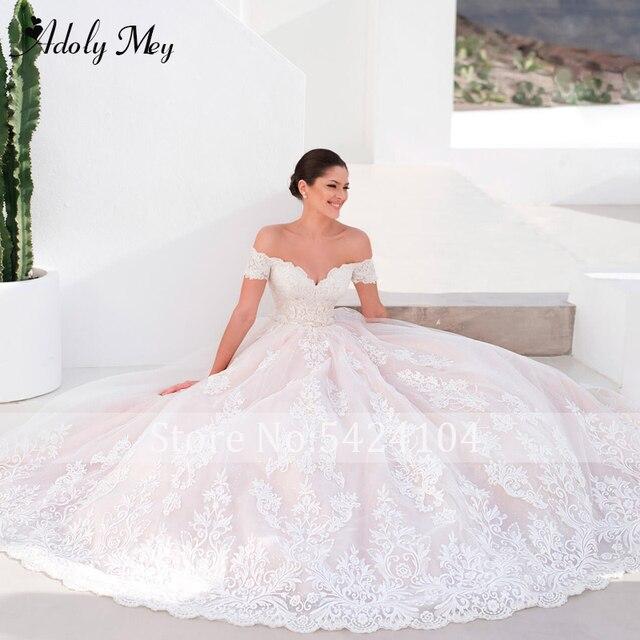 Adoly Mey Gorgeous Appliques A-Line Wedding Dress 2021 Charming Sweetheart Neck Vintage Bridal Gown Customized Vestido De Noiva 3