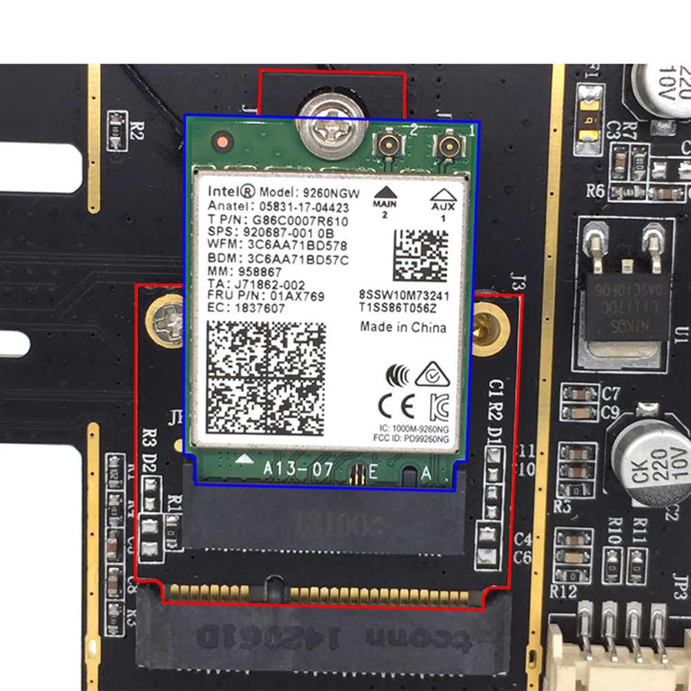 Convertisseur adaptateur carte M.2 à Mini PCI-E Bluetooth facile à installer Portable WIFI Module sans fil électrique Stable pour ordinateur Portable PC