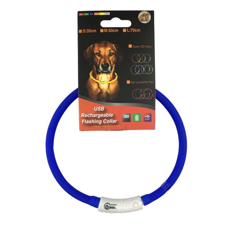 LED Shining Pet Supplies USB Charging Neck Ring LED Shining Dog Night Warning Light Silica Gel Style