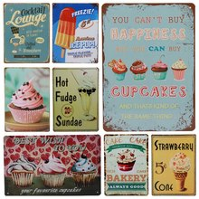 Get more info on the 30X20cm Car Plates Retro Metal Art Poster Plaque Ice Cream Faire Cakes Vintage Tin Sign Plate Bar Pub Home Garage Wall Decor H39