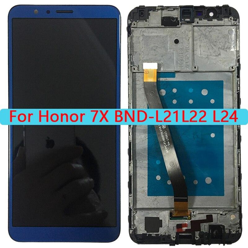 ЖК-дисплей качества AAA для Huawei Honor 7X, ЖК-дисплей с сенсорным экраном и рамкой в сборе для Honor 7x, искусственная яркость, ЖК-экран