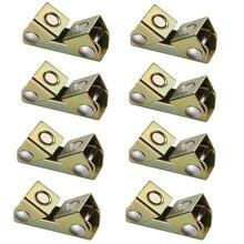 8Pcs V Type Magnetic Welding Clamps Holder Suspender Fixture Adjustable Pads Kit