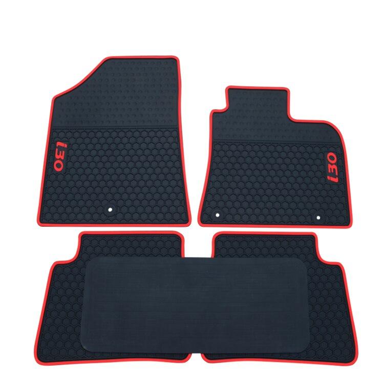 HK UK RHD без запаха прочные водонепроницаемые резиновые ковры Нескользящие специальные латексные автомобильные коврики для Hyundai I30 правый рул