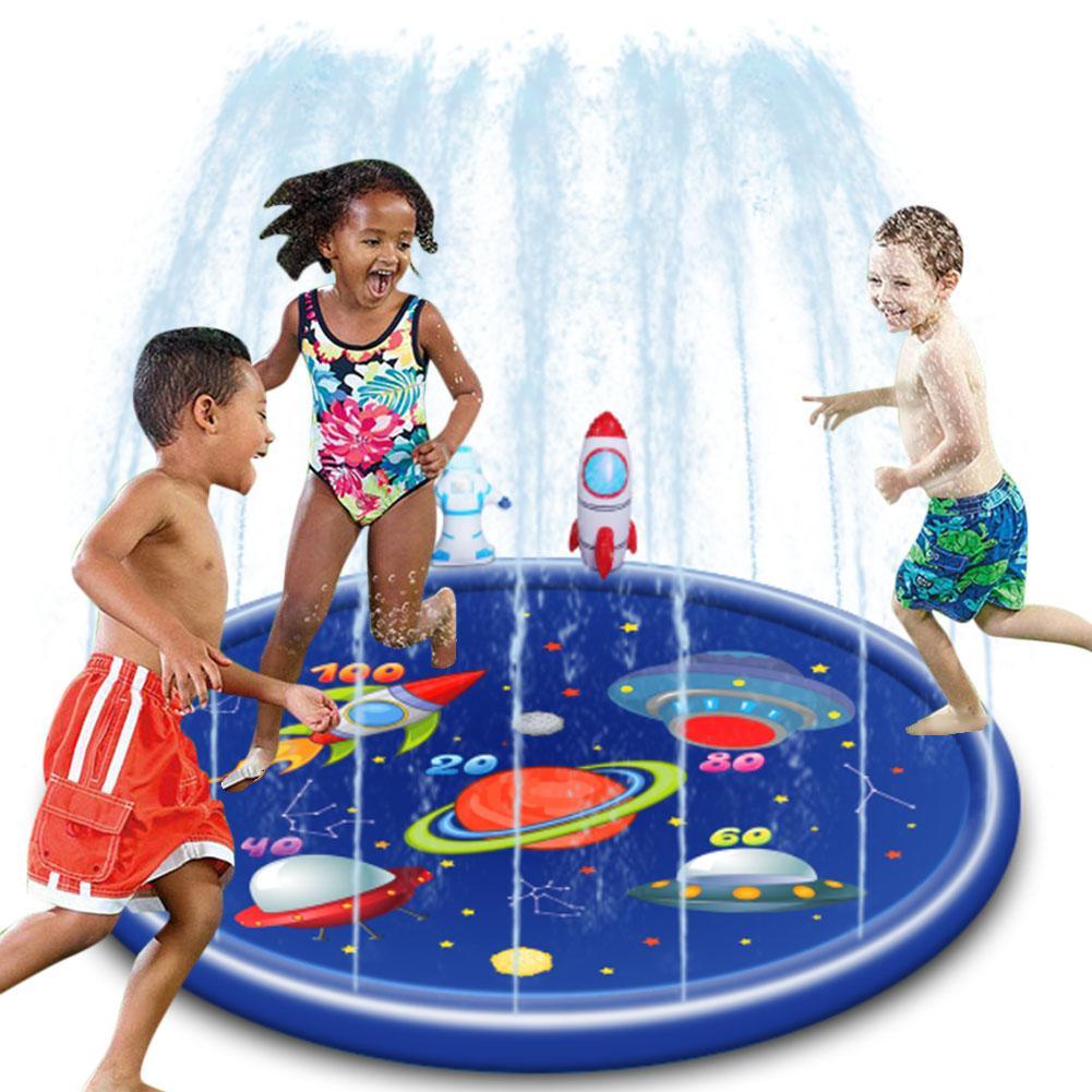 170cm inflavel agua spray inflavel animal jato de agua criancas aspersao jogar tapete agua jogos praia
