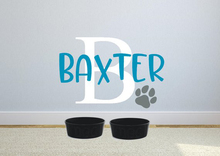 Dog name wall decal  sticker Custom sign Personalized Customer