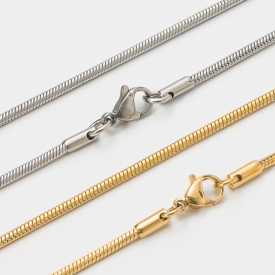 2020 High quality Punk Clavicle Snake Neck Chains for Women Gold Silver Color Stainless Steel 35+5cm Snake Choker Necklace Chain