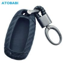 Carbon Silicone Car Key Case For Hyundai Elantra GT Kona 2018 2019 Santa Fe Veloster Smart Remote Fob Cover Protector Keys Bag