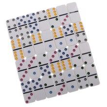 Двойной шесть набор домино традиционная настольная игра игрушечная жестяная коробка цветная точка#2
