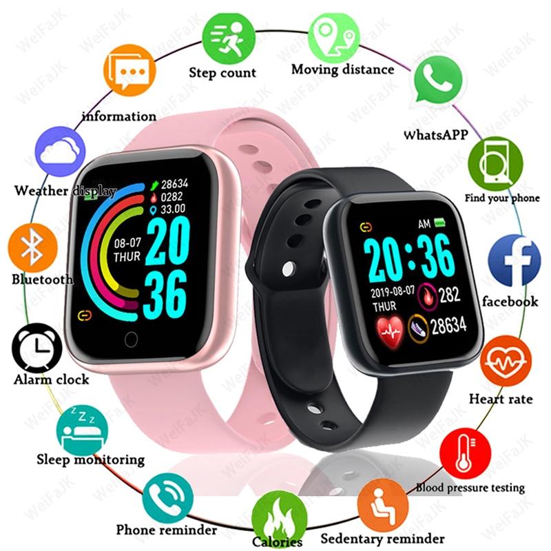 D20 Pro Women Fashion Bluetooth Smart Watch Men Sports Watches Y68 Waterproof Wristband Heart Rate Fitness Bracelet Watch Fit