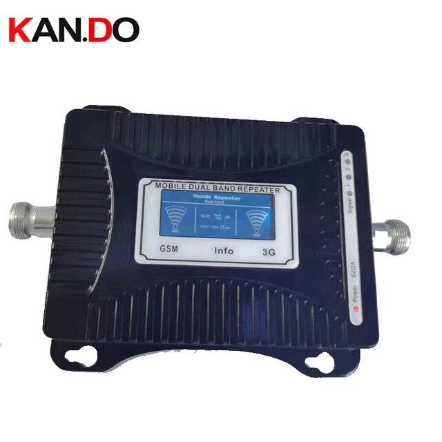 Goedkope 2G + 3G repeater 55dbi LCD display dual bands GSM 3g booster repeater DCS 900 2100mhz 3g booster gsm 3g