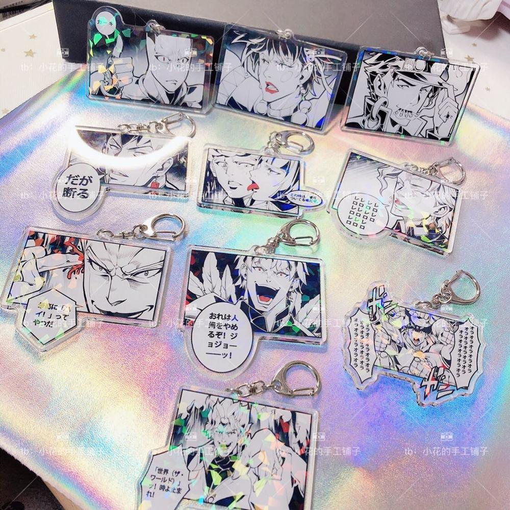Anime  JoJos Bizarre Adventure Kakyoin Noriaki Kujo Jotaro Keychain Cosplay Acrylic Figure Keyring 4509 Kids Collection Toy