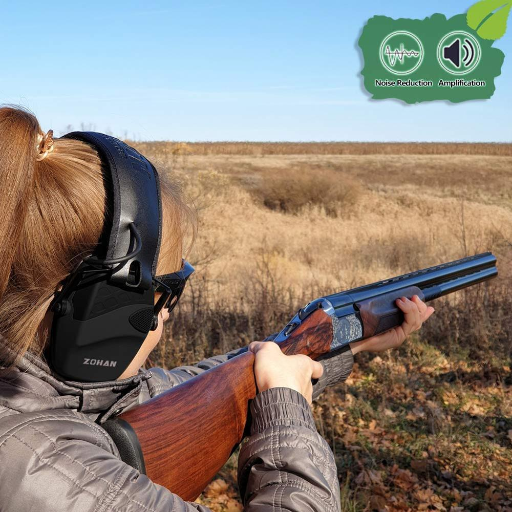 Купить с кэшбэком ZOHAN Electronic Shooting Ear Protection Sound Amplification Anti-noise Earmuffs Professional Hunting Ear Defender Outdoor Sport